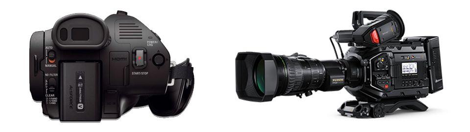 Videocámaras-tipo-camcorder-para-hacer-streaming